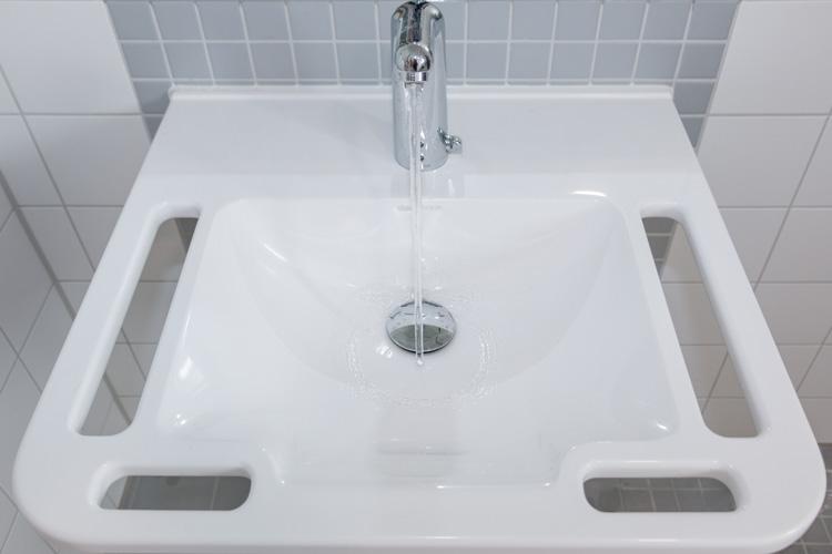 Unterfahrbares Waschbecken